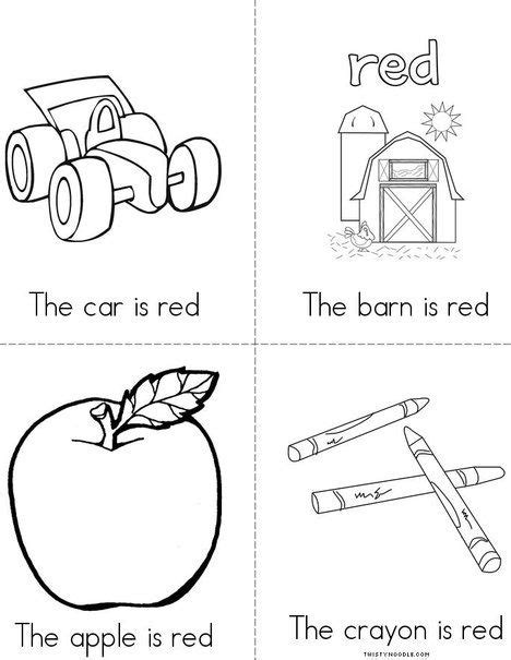 preschool red coloring pages i love the color red book from twistynoodle com color