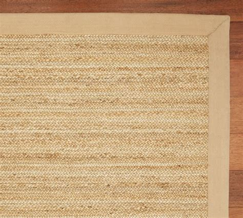 color bound flat braided jute rug straw pottery barn