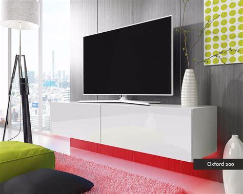 porta tv oxford  soggiorno  led blu  rosse mobile