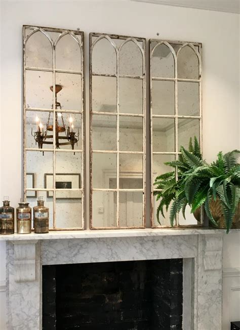 Decorative Mirror Panels by Aged White Architectural Decorative Mirror Panels