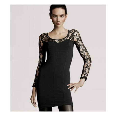 sexy long sleeves lace sleeve  shoulder  black