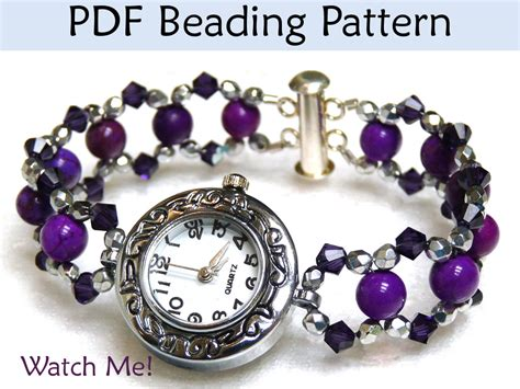 beaded watches beading tutorial bracelet jewelry pattern