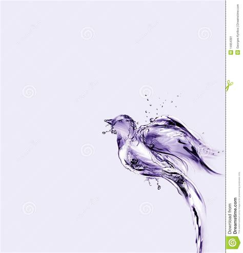 violet water bird flying up and away stock illustration