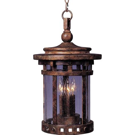 Outdoor Suspended Lighting Maxim Lighting Santa Barbara Vx 3 Light Outdoor Hanging Lantern 40039cdse The Home Depot