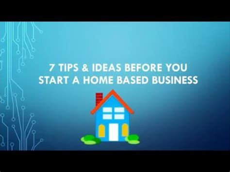 start a home based business ideas for mompreneurs in 2017 7 tips ideas before starting a home based business youtube