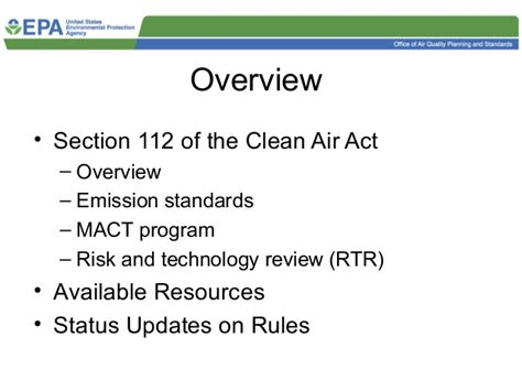 clean air act section 112 epa clean air act training in detroit ejepadet
