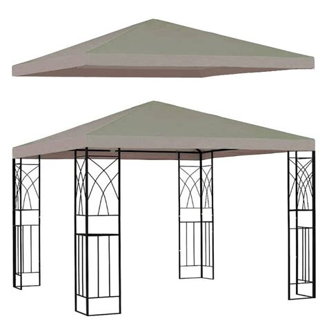 backyard canopy covers new single tier 10 x10 replacement canopy gazebo top
