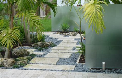 Landscape Rock Miami Stepping Walkway Miami Florida Tropical Landscaping