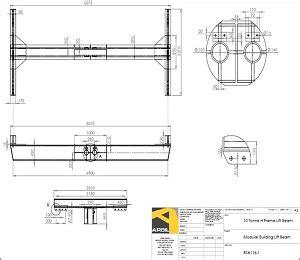 Drawing H Beam by Rail Portacabin Lift Beam