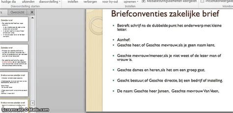 email layout nederlands zakelijke brief youtube
