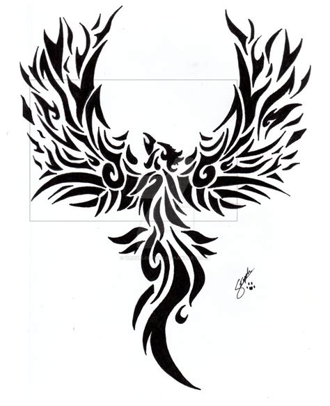 tribal phoenix tattoo by troublestripe on deviantart