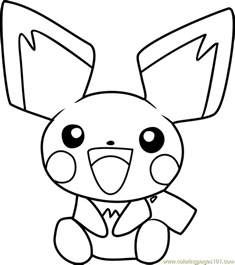 pichu pokemon coloring free pok 233 mon coloring pages coloringpages101