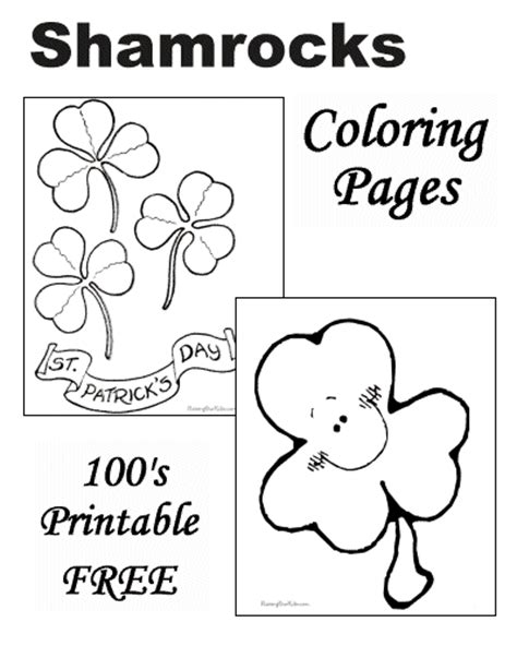 holy trinity shamrock coloring page coloring pages