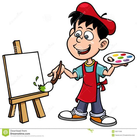 Artists Clipart Painting Clipart Pencil And In Color Painting