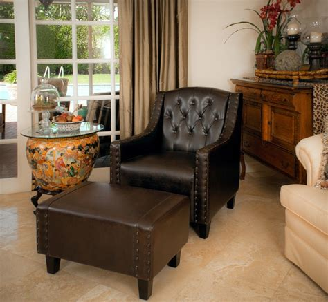 chairs with ottomans for living room chairs with ottomans for living room brown leather