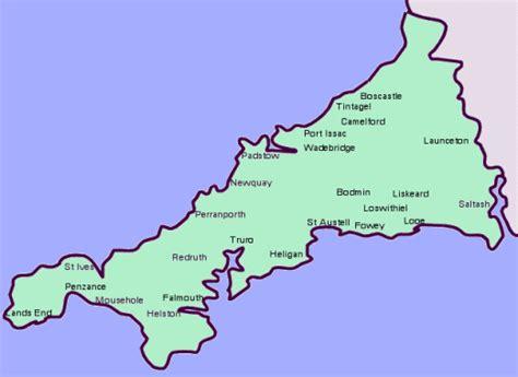 cornwall map map of cornwall