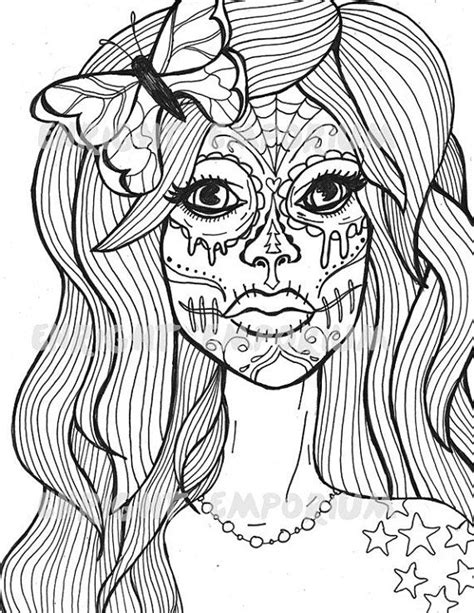 17 best ideas about sugar skull girl on pinterest