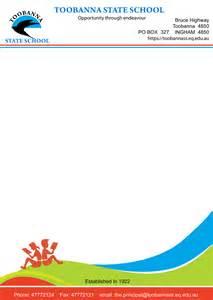 modern feminine letterhead design for toobanna state
