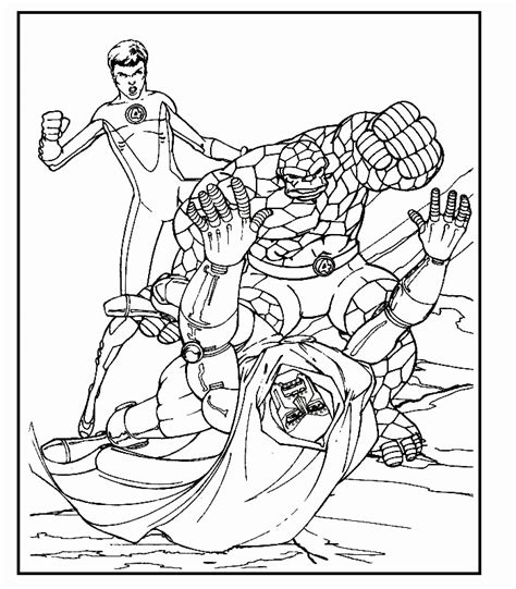 coloring page fantastic four coloring pages 1