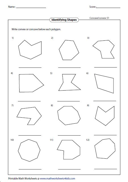 Classifying Polygons Worksheet by Polygon Worksheets