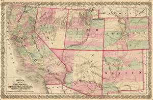 arizona and utah map colton s map of california nevada utah colorado