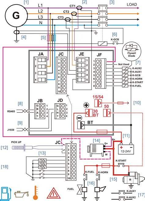 generator electrical diagram wiring diagram with description