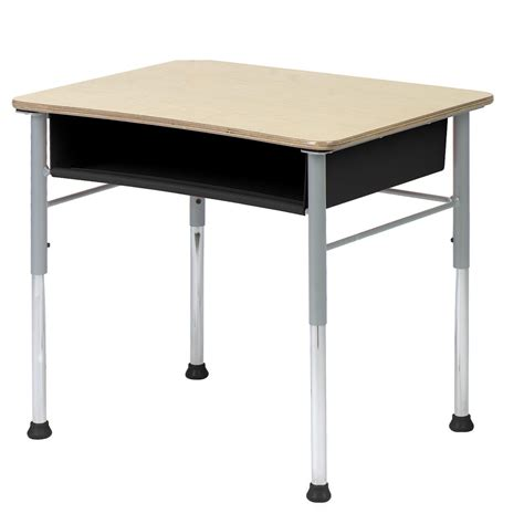 student desk virco fusion maple open front student desk at hayneedle