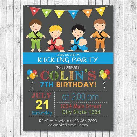 printable birthday cards karate karate birthday invitation karate invite karate