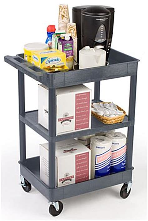 råskog utility cart industrial cart gray plastic w 3 shelves