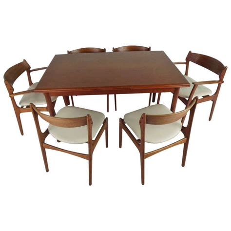 draw leaf table and chairs draw leaf dining table and six eric buch chairs at