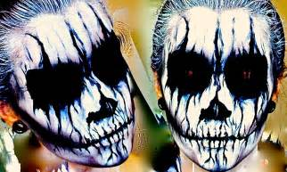 best halloween white face paint demon corpse paint halloween makeup tutorial youtube
