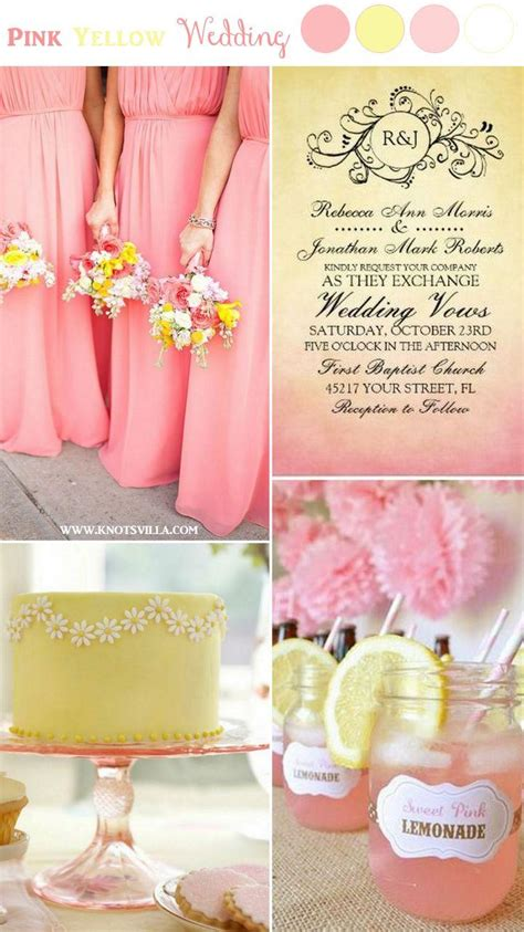 wedding theme pink and yellow wedding ideas 2574842 weddbook