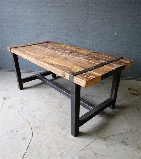 wood and steel dining table best 25 metal dining table ideas on made to