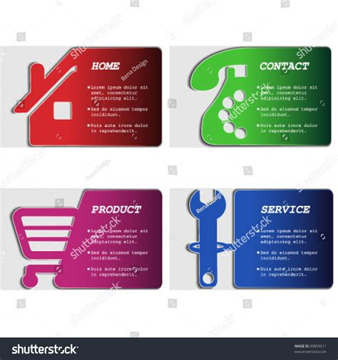 product menu template vector web navigation menu template home stock vector 99859511 gt gt 19 great product menu