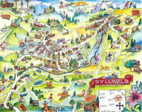 idyllwild california maps and directions