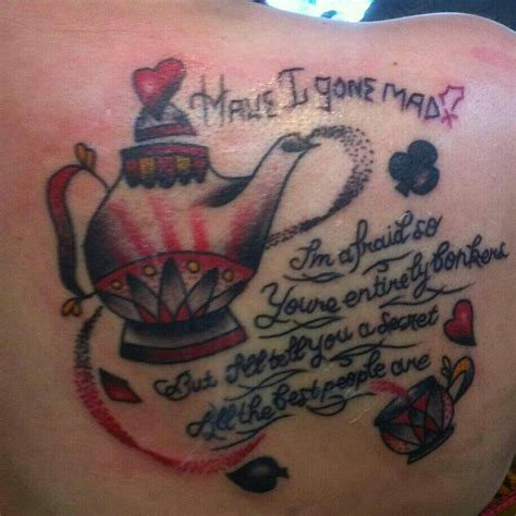 alice in wonderland quote tattoos in tattoos designs ideas and meaning