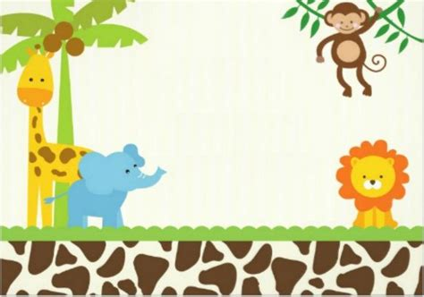 40th Birthday Ideas Safari Birthday Invitation Template Free Party Ideas And Themes Jungle Animal Invitation Templates
