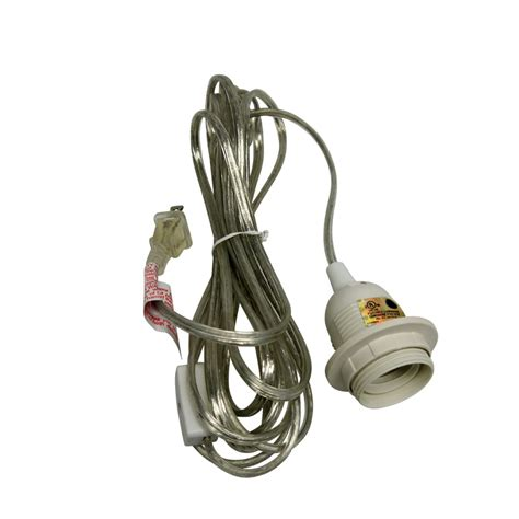 Pendant Light Cord Kit Single Socket Pendant Light Cord Kit For Lanterns 11ft Ul Listed Clear On Sale Now Patio