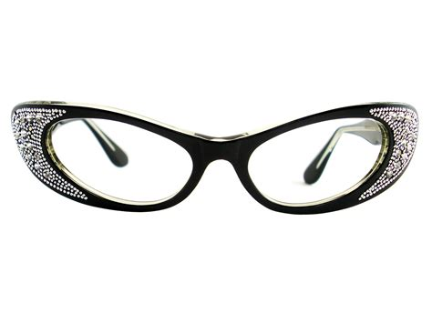 Cat Eye Glasses 2 vintage eyeglasses frames eyewear sunglasses 50s vintage black cat eye glasses eyeglasses