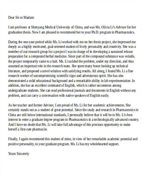 Letter Of Recommendation Ucf school recommendation letter sle 8 exles