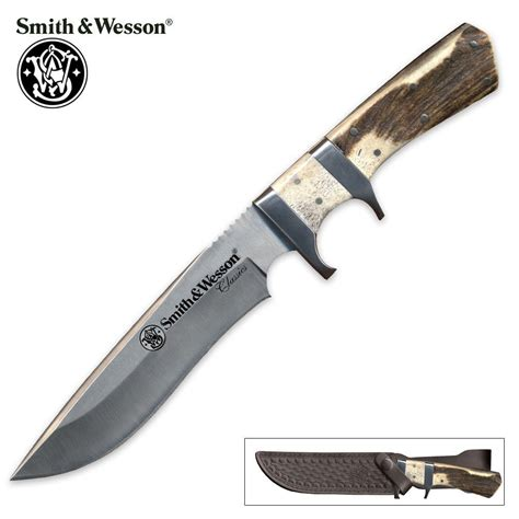smith and wesson fixed blade knives smith wesson classic stag fixed blade knife kennesaw