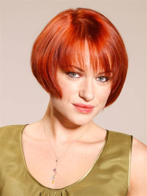 haircut net smooth copper goddess smooth auburn bob short hairstyle 2013
