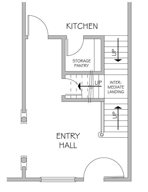 stairs in floor plan combination stair