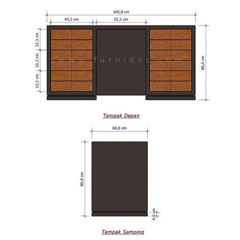 layout kantor dan dasar filling meja kerja jati minimalis 6 laci furnides