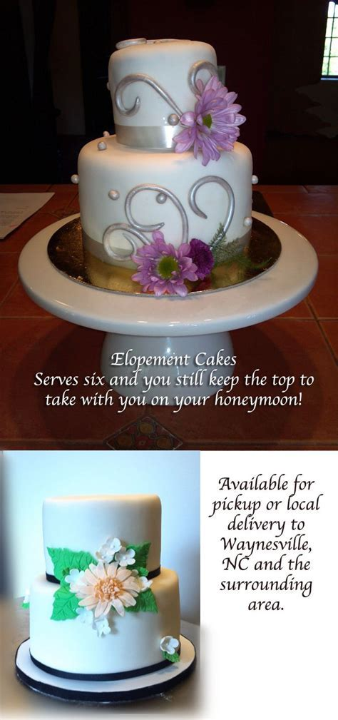 Small but beautiful #elopement #wedding #cakes. These two