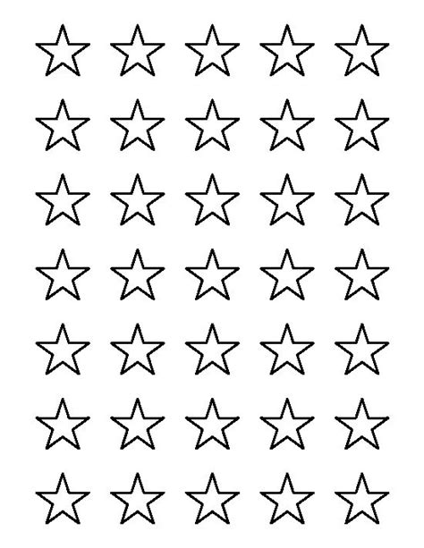 1 inch star pattern use the printable outline for crafts