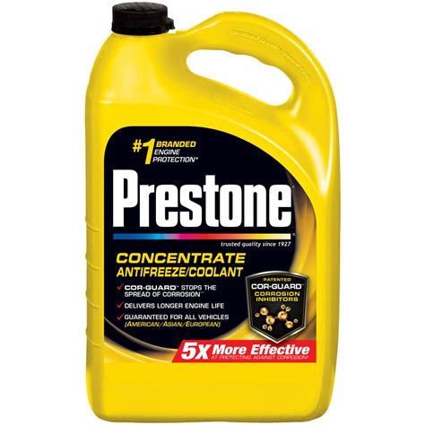 Prestone Radiator Flush Cleaner 2in1 Light Flushing And Heavy Duty prestone 128 oz antifreeze af2000 the home depot