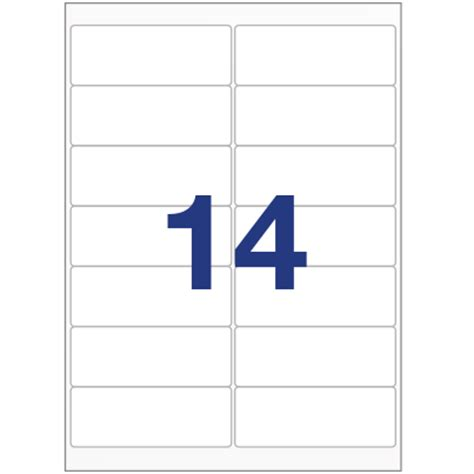 avery 14 labels per sheet template printer labels 14 per a4 sheet equivalent to avery l7163