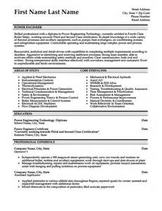 resume template engineer power engineer resume template premium resume sles