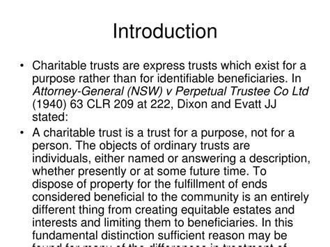 Introduction Letter Of Charitable Trust ppt charitable trusts powerpoint presentation id 457849